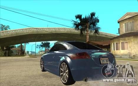 Audi TT 3.2 Coupe para GTA San Andreas vista posterior izquierda
