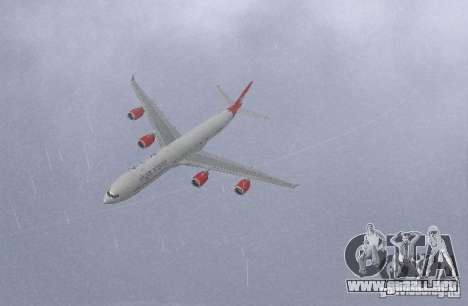 Airbus A340-600 Virgin Atlantic para GTA San Andreas left