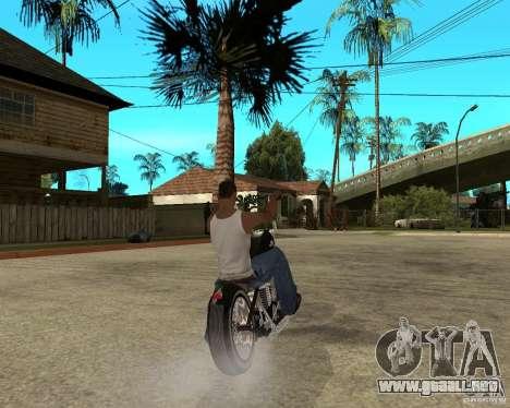 C&C chopeur para GTA San Andreas vista posterior izquierda
