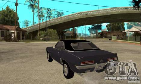 Chevrolet Camaro SS - Stock para GTA San Andreas vista posterior izquierda