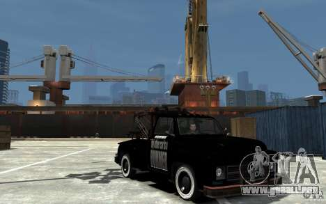 Black Towtruck para GTA 4 vista hacia atrás