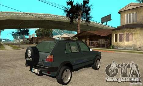 Volkswagen Golf Country MkII Syncro 4x4 1991 para la visión correcta GTA San Andreas