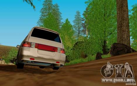 VAZ 2111 para GTA San Andreas vista hacia atrás