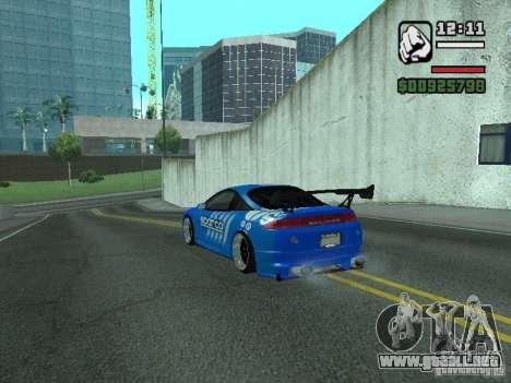 Mitsubishi Eclipse Tunning para GTA San Andreas vista posterior izquierda