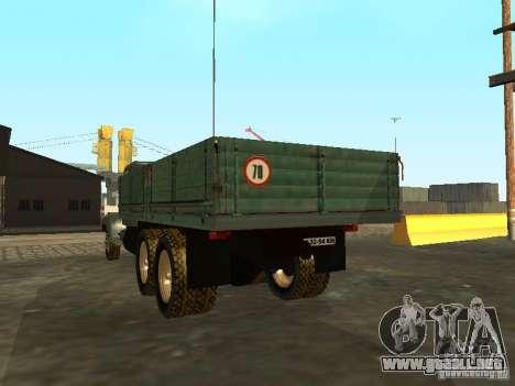 Remolque de camión KrAZ v. 2 para GTA San Andreas vista posterior izquierda