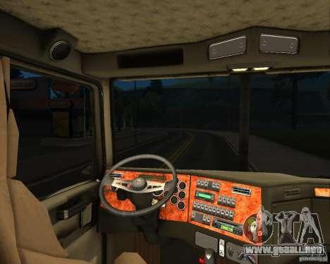 Western Star 4900 EX para GTA San Andreas vista hacia atrás