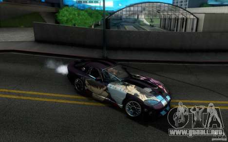 Dodge Viper GTS Coupe TT Black Revel para la vista superior GTA San Andreas