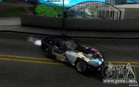 Dodge Viper GTS Coupe TT Black Revel para la vista superior GTA San Andreas