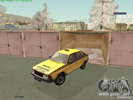 AZLK Moskvich 2141 Taxi v2 para vista inferior GTA San Andreas