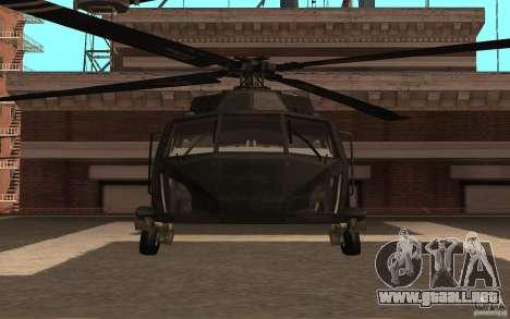 Black Hawk from BO2 para GTA San Andreas left