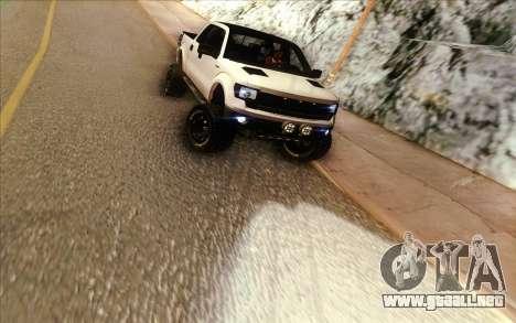 Ford F-150 Carryer Metal Mulisha para GTA San Andreas vista hacia atrás