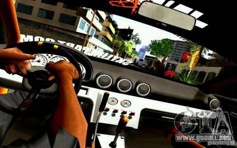 Nissan Silvia S15 Drift Works para visión interna GTA San Andreas