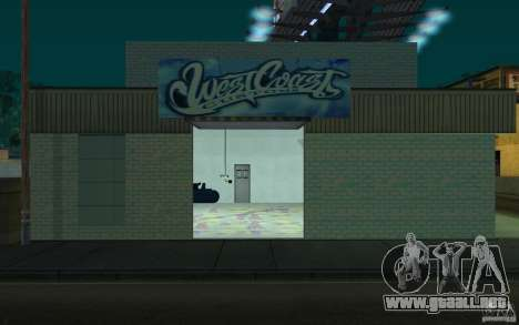 west coast coustoms para GTA San Andreas segunda pantalla