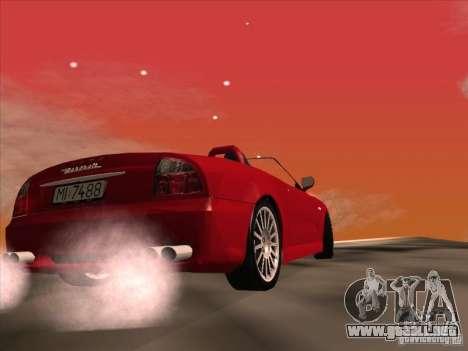 Maserati Spyder Cambiocorsa para visión interna GTA San Andreas