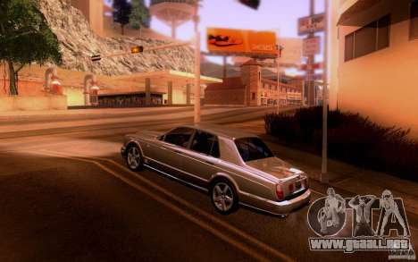 Bentley Arnage para GTA San Andreas vista posterior izquierda