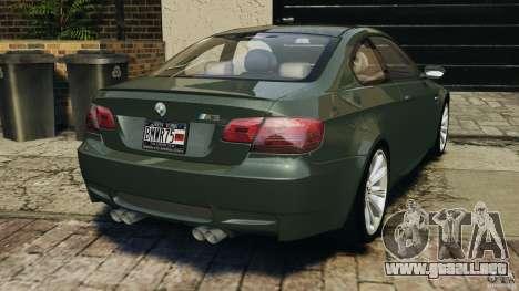 BMW M3 E92 2007 v1.0 [Beta] para GTA 4 Vista posterior izquierda