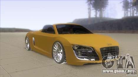 Audi R8 5.2 FSI Spider para GTA San Andreas vista hacia atrás
