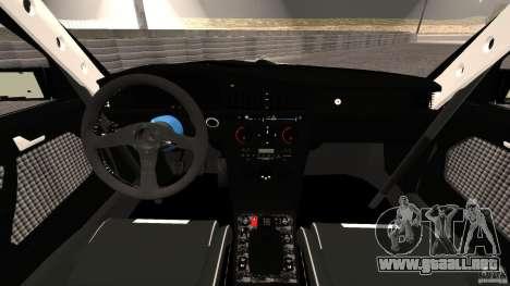 Deportivo Mercedes-Benz 190E 2.3-16 para GTA 4 vista hacia atrás