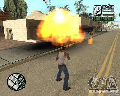 Explosión para GTA San Andreas tercera pantalla