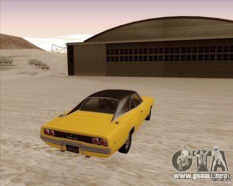Dodge Charger RT 1968 Bullit clone para la visión correcta GTA San Andreas
