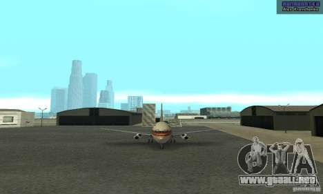Boeing 737-100 para GTA San Andreas left