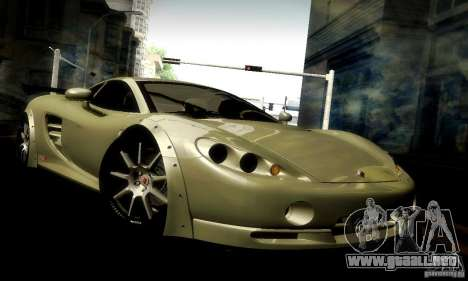 Ascari KZ1R Limited Edition para la vista superior GTA San Andreas