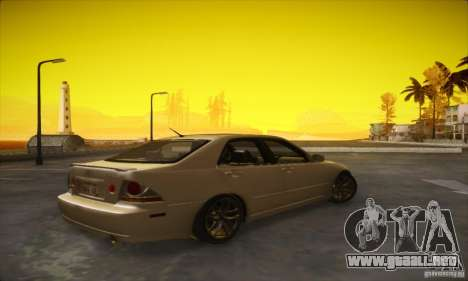 Lexus IS 300 para GTA San Andreas vista posterior izquierda