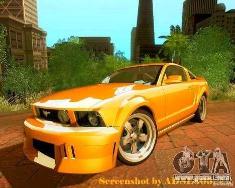 Ford Mustang GT 2005 Tunable para GTA San Andreas