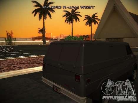 GMC Vandura para GTA San Andreas vista hacia atrás