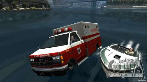 Ambulance boat para GTA 4 vista lateral