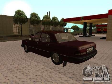 GAZ 3110 VOLGA v1.0 para GTA San Andreas vista posterior izquierda