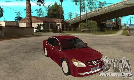 Peugeot 607 para GTA San Andreas vista hacia atrás