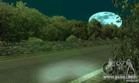 La ruta del rally para GTA San Andreas segunda pantalla