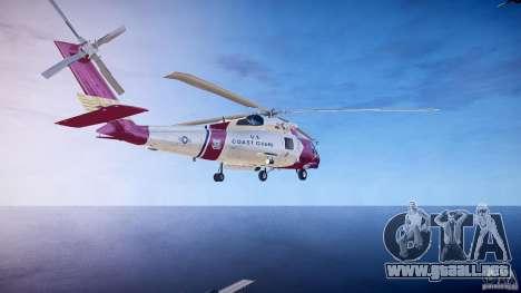 HH-60J Jayhawk para GTA 4 Vista posterior izquierda