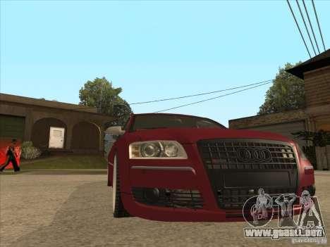 Audi A8 Switze para GTA San Andreas vista hacia atrás