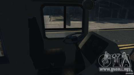 London City Bus para GTA 4 vista interior