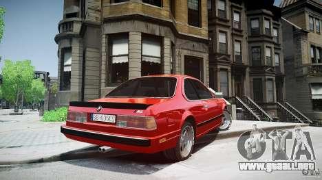 BMW M6 v1 1985 para GTA 4 Vista posterior izquierda