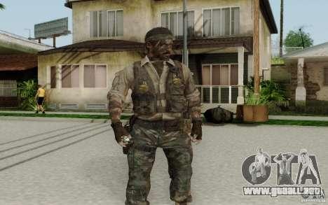Frank Woods para GTA San Andreas segunda pantalla