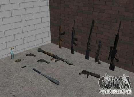 Armas del GTA IV para GTA San Andreas