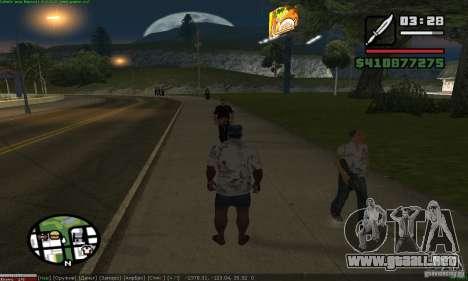 Weapons for pedestrian para GTA San Andreas segunda pantalla