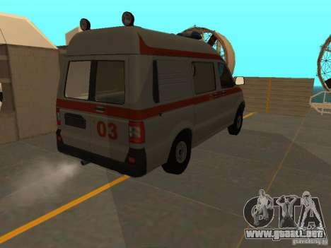 Ambulancia UAZ Simba SC para GTA San Andreas vista hacia atrás