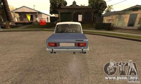 2106 VAZ viejo v2.0 para GTA San Andreas vista hacia atrás