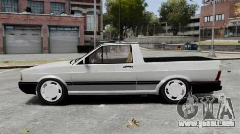 Volkswagen Saveiro 1990 Turbo para GTA 4 left