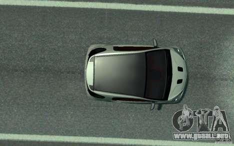 Aston Martin Cygnet 2011 para GTA 4 vista hacia atrás