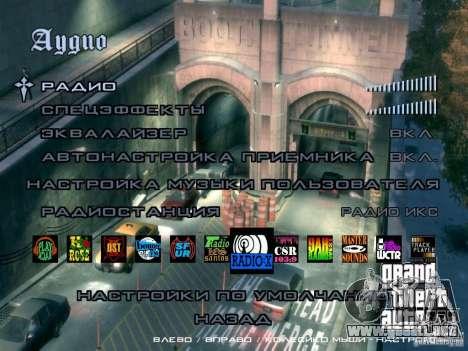 Menú como el de GTA IV para GTA San Andreas sexta pantalla