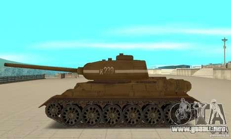 Tanque T-34 para GTA San Andreas left