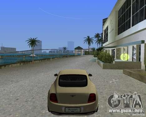 Bentley Continental SS para GTA Vice City left