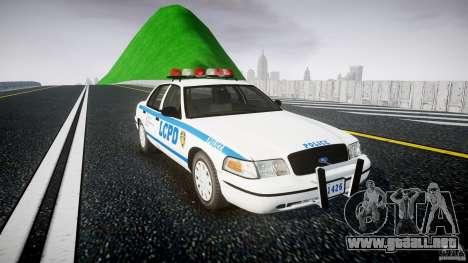 Ford Crown Victoria Police Department 2008 LCPD para GTA 4 visión correcta
