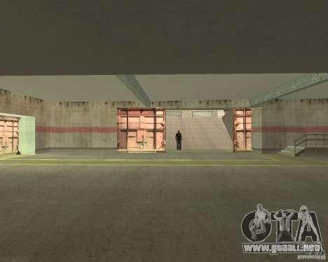 Compuerta neumática en área 69 para GTA San Andreas sucesivamente de pantalla