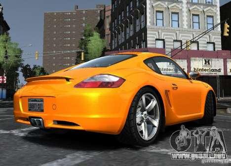 Porsche Cayman S1 para GTA 4 Vista posterior izquierda
